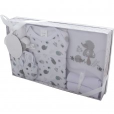 3294WHITE: 7 Piece Luxury Boxed Gift Set (0-3 Months)