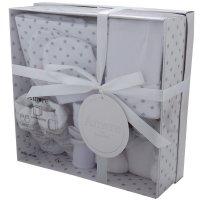 3322W: White 7 Piece Luxury Boxed Gift Set (0-3 Months)