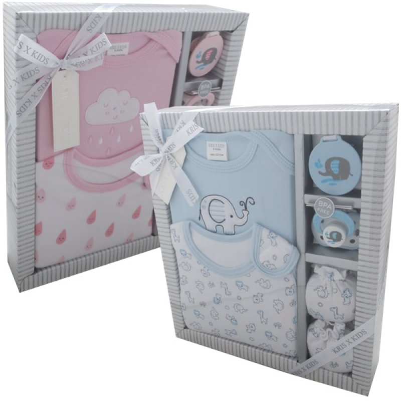 3330: 5 Piece Luxury Boxed Gift Set (0-3 Months)