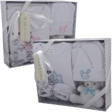 3331PB: 5 Piece Luxury Boxed Gift Set (0-3 Months)