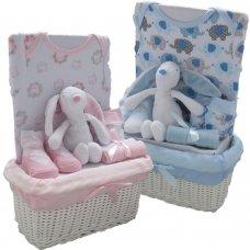 3336PB: Baby 7 Piece Luxury Basket Gift Set (0-3 Months)