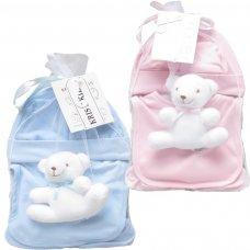 3334PB:  5 Piece Luxury Hanging Mesh Bag Gift Set (0-3 Months)