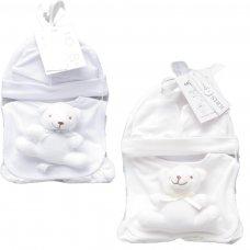3334WC:  5 Piece Luxury Hanging Mesh Bag Gift Set (0-3 Months)