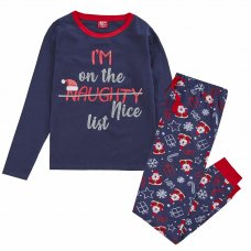 34B1674: Ladies Christmas List Family Pyjama (S-XL)