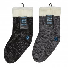 42B679: Boys Chunky Lounge Socks With Grippers