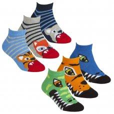 42B705: Boys 3 Pair Design Trainer Liner Socks (Assorted Sizes)