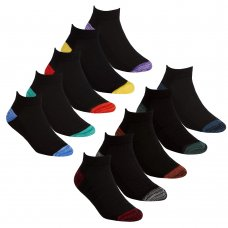 42B707: Boys 5 Pair Sport Trainer Liner Socks (Assorted Sizes)
