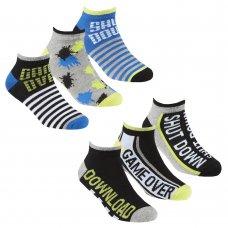 42B709: Boys 3 Pack Bamboo Trainer Liner Socks (Assorted Sizes)