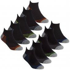 42B717: Boys 5 Pair Sport Trainer Liner Socks (Assorted Sizes)