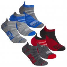 42B718: Boys 3 Pair Sport Trainer Liner Socks (Assorted Sizes)