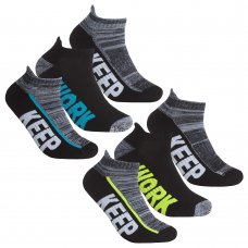 42B719: Boys 3 Pair Sport Trainer Liner Socks (Assorted Sizes)