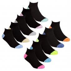 43B692: Girls 5 Pair Sport Trainer Liner Socks (Assorted Sizes)