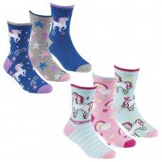 43B693: Girls 3 Pack Bamboo Design Ankle Socks (Assorted Sizes)