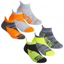 43B703: Girls 3 Pair Sport Trainer Liner Socks (Assorted Sizes)