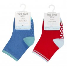 44B862: Baby Boys 5 Pack Heel & Toe Socks With Grippers (Assorted Sizes)