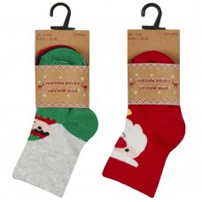 44B883: Baby Christmas 3 Pack Design Socks