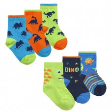 44B911: Baby Boys 3 Pack Cotton Rich Design Ankle Socks (Assorted Sizes)
