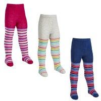 45B143: Babies 1 Pair Assorted Stripe Design Tights (0-24 Months)