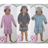 60143: Baby Novelty Assorted Animal Dressing Gowns/ Bathrobes (9-24 Months)