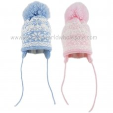 KIDS6178: Baby Knitted Pom Nepalese Hat (6-18 Months)