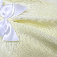 MC776-Lemon: Baby Knitted 2 Piece Set With Bow (0-9 Months)