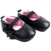 B1115: PU Shoes w/Bow (NB-12 Months)