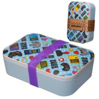 BAMB36: Eco-Friendly Bamboo Composite Game Over Reusable Lunch Box