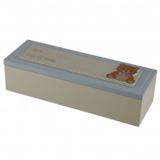 BBOX03: Date of Birth Wooden Baby Boy Keepsake Box