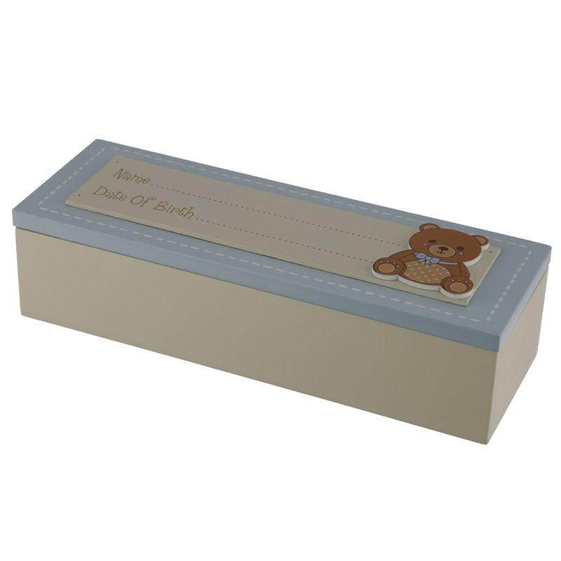 BBOX03: Date of Birth Wooden Baby Boy Keepsake Box
