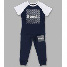 Jasper Navy: Boys Bench T-Shirt & Jogpant Set (1.5-4 Years)