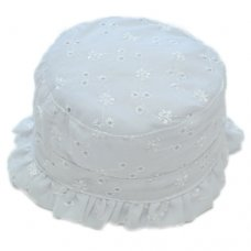 CM3165: Baby Girls Broderie Anglais Cloche (0-6 Months)