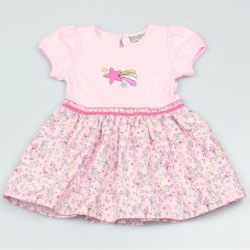 GF1091: Baby Girls Stars Lined Dress (1-2 Years)