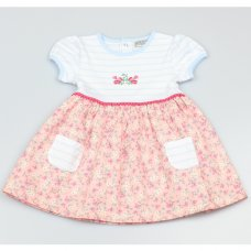 GF1092: Baby Girls Floral Lined Dress (1-2 Years)