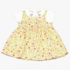 GF1094: Baby Girls Floral Pinafore Dress & Top  (1-2 Years)
