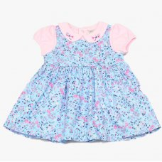 GF1095: Baby Girls Floral Pinafore Dress & Top  (1-2 Years)
