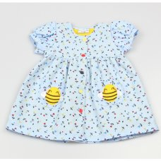 GF3012: Baby Girls Lined All Over Print Dress  (1-2 Years)