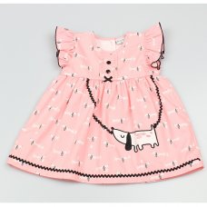GF3013: Baby Girls Lined All Over Print Dress  (1-2 Years)