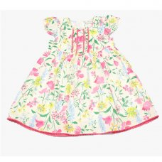 GF3101: Infant Girls All Over Print Cotton Lined Dress (1-3 Years)