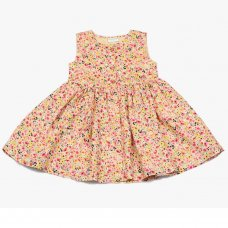 GF3103: Infant Girls All Over Print Cotton Lined Dress (1-3 Years)