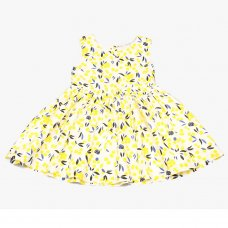GF3105: Infant Girls All Over Print Cotton Lined Dress (1-3 Years)