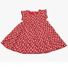 GF3106: Infant Girls All Over Print Cotton Lined Dress (1-3 Years)