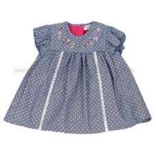 J3560: Baby Girls All Over Spots Dress (1-2 Years)