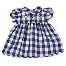 J3562: Baby Girls Checked Lined Dress (1-2 Years)