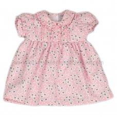 J3568: Baby Girls AOP Flowers Lined Dress (1-2 Years)