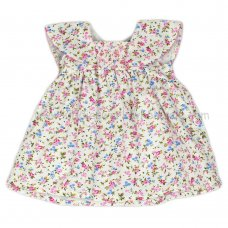 J3572: Baby Girls Floral,  Lined Dress (1-2 Years)