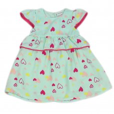J3656: Infant Girls All Over Print Cotton Lined Dress (1-3 Years)