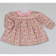 M3433: Baby Girls Cotton Lined Floral Dress (12-24 Months)