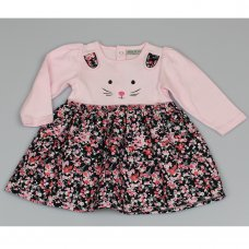 M3436: Baby Girls Cotton Lined  Dress (12-24 Months)