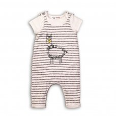 Fun 6: 2 Piece Bodysuit & Dungaree Set (0-6 Months)