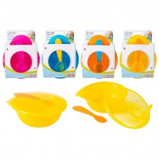 FS176: Travel Baby Feeding Bowl With Lid & Spoon